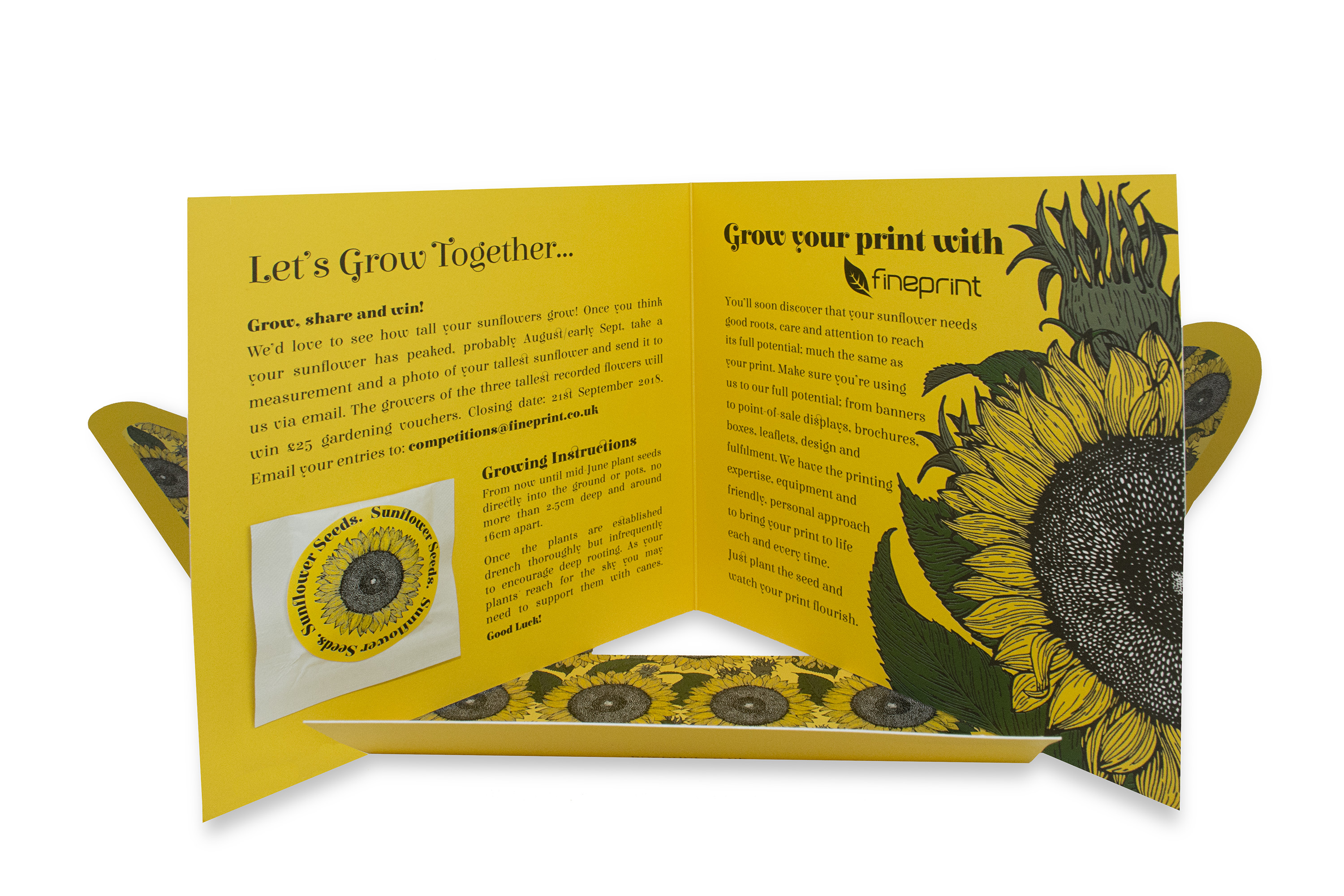 sunflower mailer